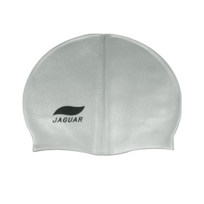 Anti Slip Interior Silicone Skin Grey Swimming Cap Hat