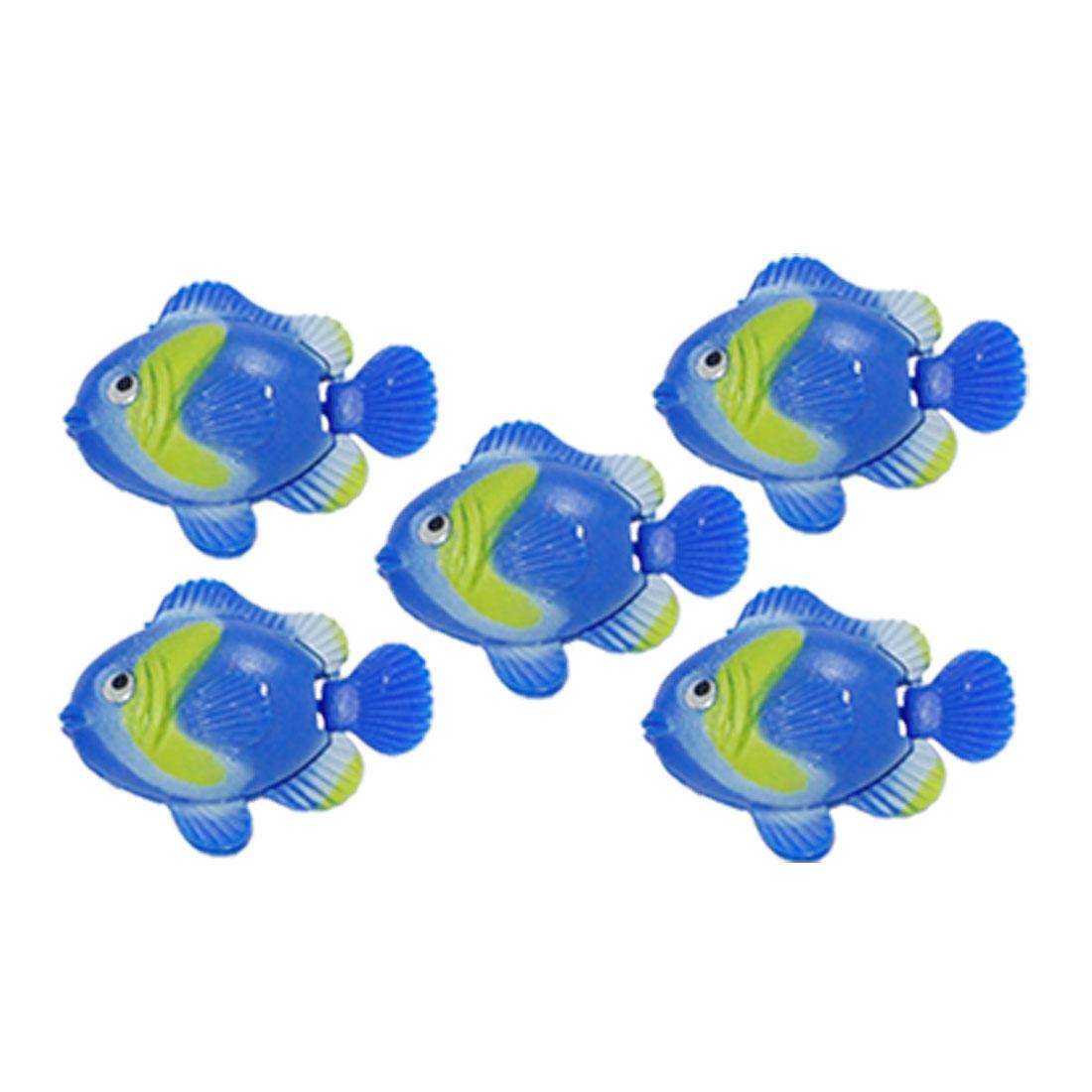 5 PCS Plastic Vividly Floating Fish Aquarium Ornament Decor