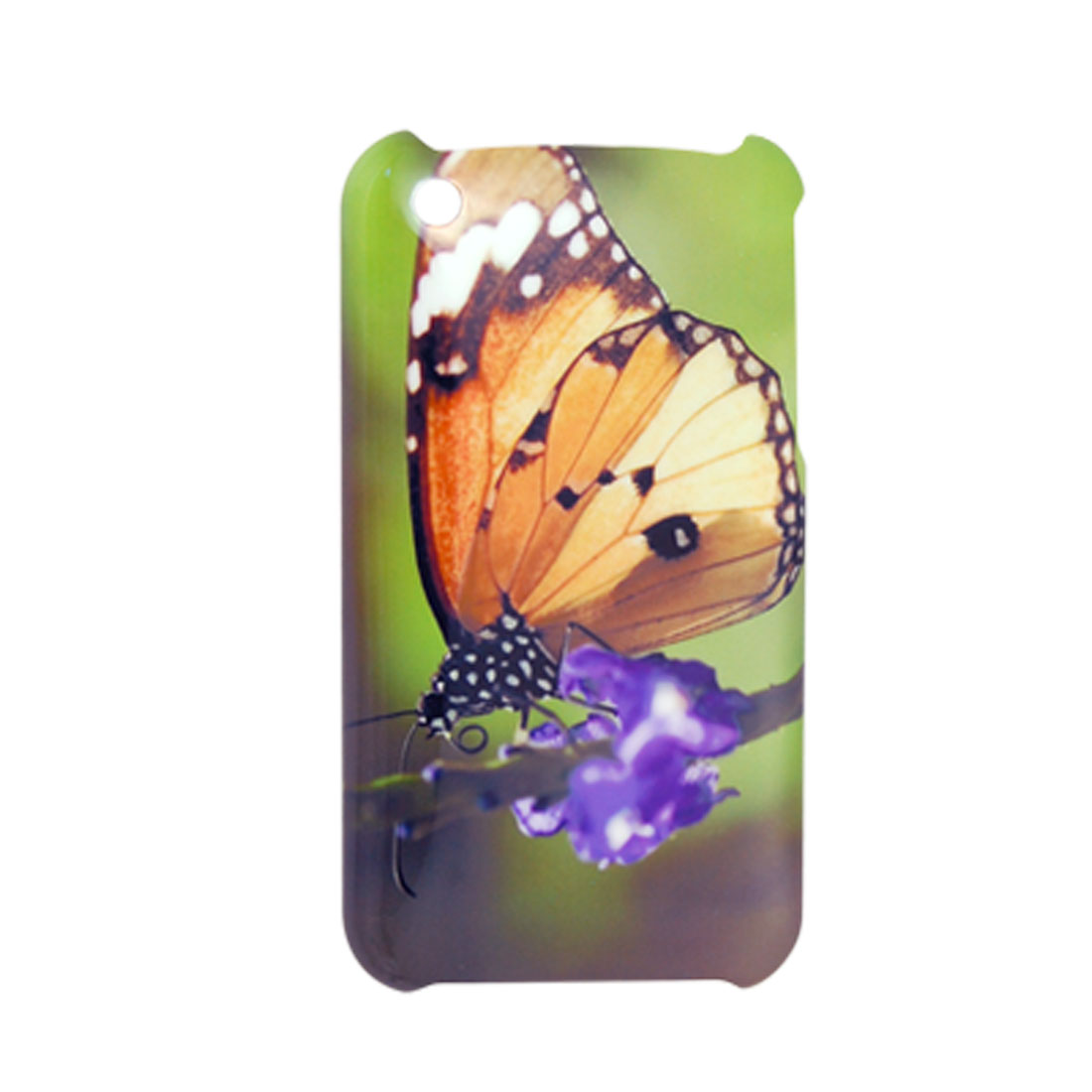 Butterfly Printed Plastic Back Cover for iPhone 3G