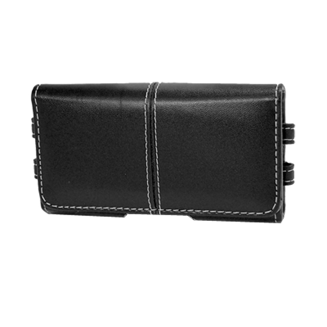 Black PU Leather Magnetic Pouch Belt Loop Case for iPhone 3G 3GS