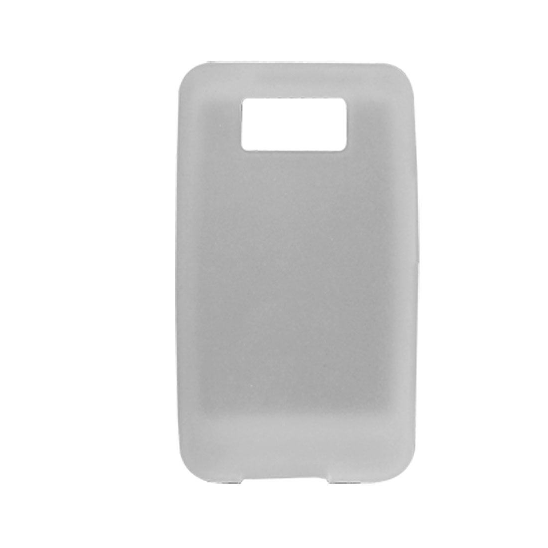 Soft Silicone Cover Skin for HTC Touch HD2 Clear White