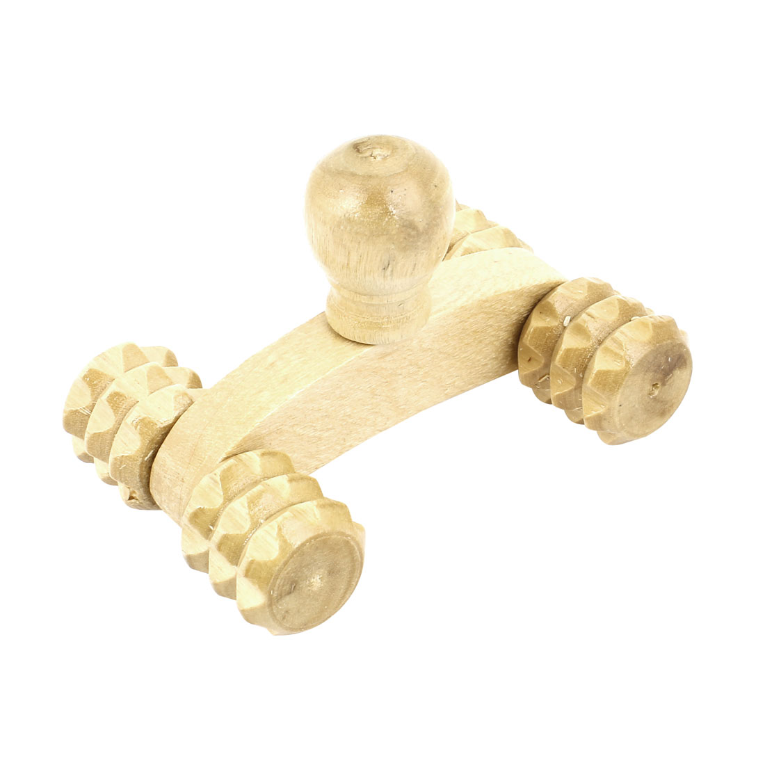 Mini 4 Wheels Wooden Massage Roller Body Arms Legs Massager