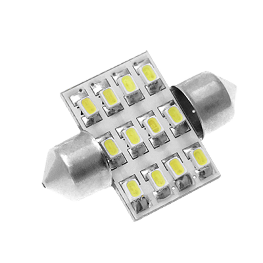 White 12 SMD LED Car Auto 31mm Festoon Dome Light Lamp Bulb DC 12V internal