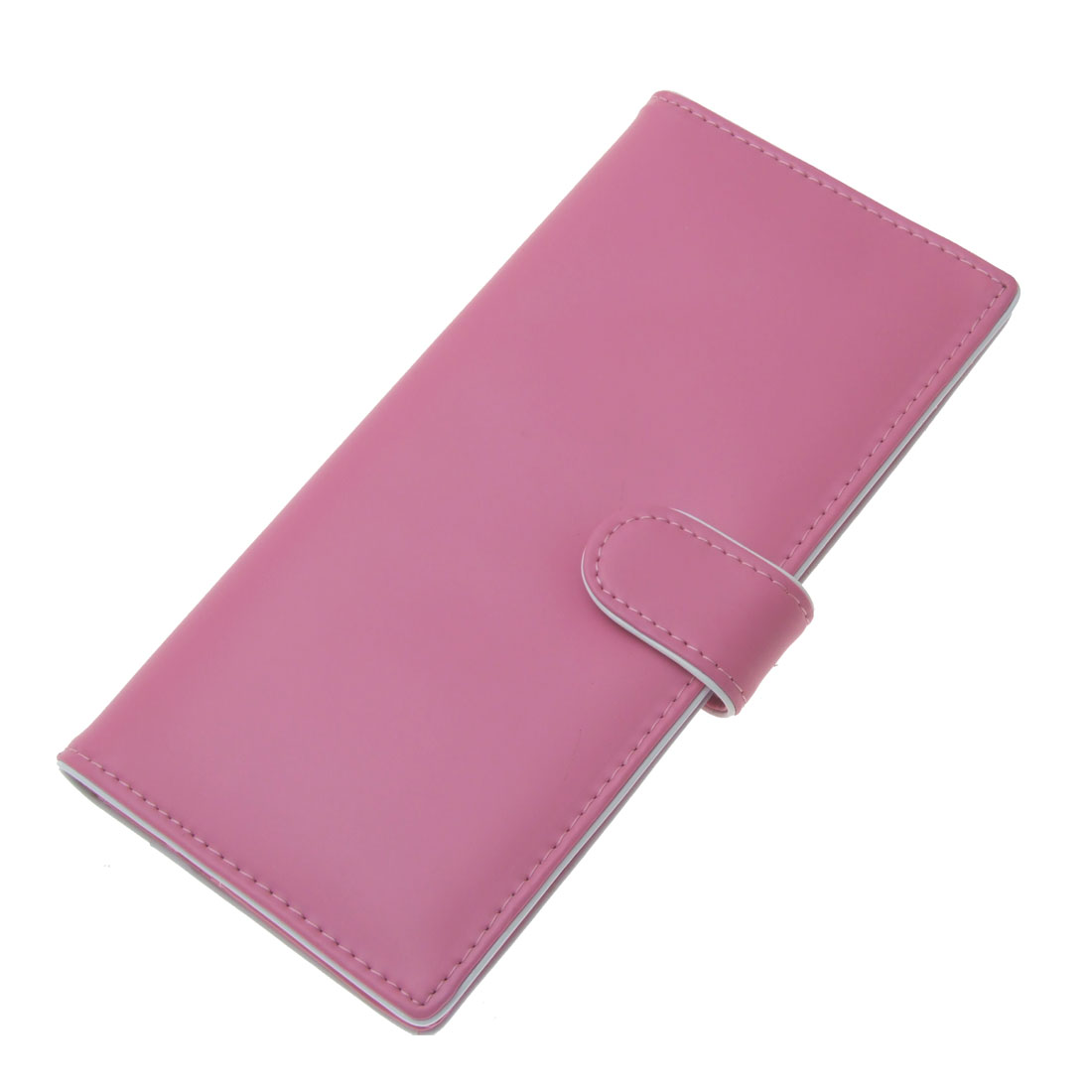 7.2 x 3.5 Inch Faux Leather Photo Window Card Slot Lady Ultra Pink Wallet Purse