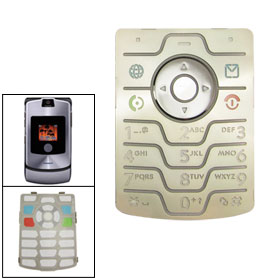 Gray Replacement Part Keyboard Keypad for Motorola V3