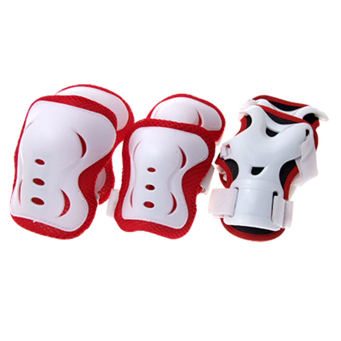Red Elbow Knee Wrist Support Sport Protector Set for Children