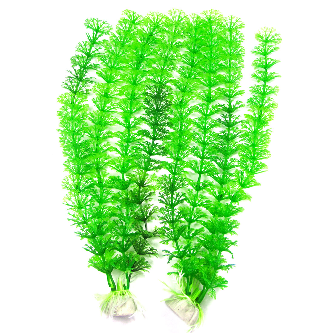 2PCS Green Plastic Grass Plants Decor Ornament for Tank Aquarium
