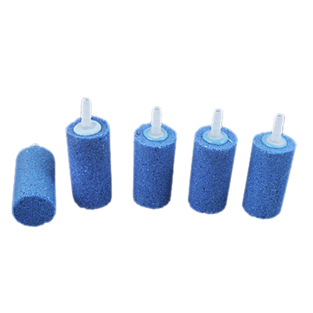 5PCS Blue Cylinder Aquarium Air Bubble Stones Aquarium