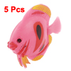 5 x Plastic Tropical Sea Float Fish Decoration for Tank