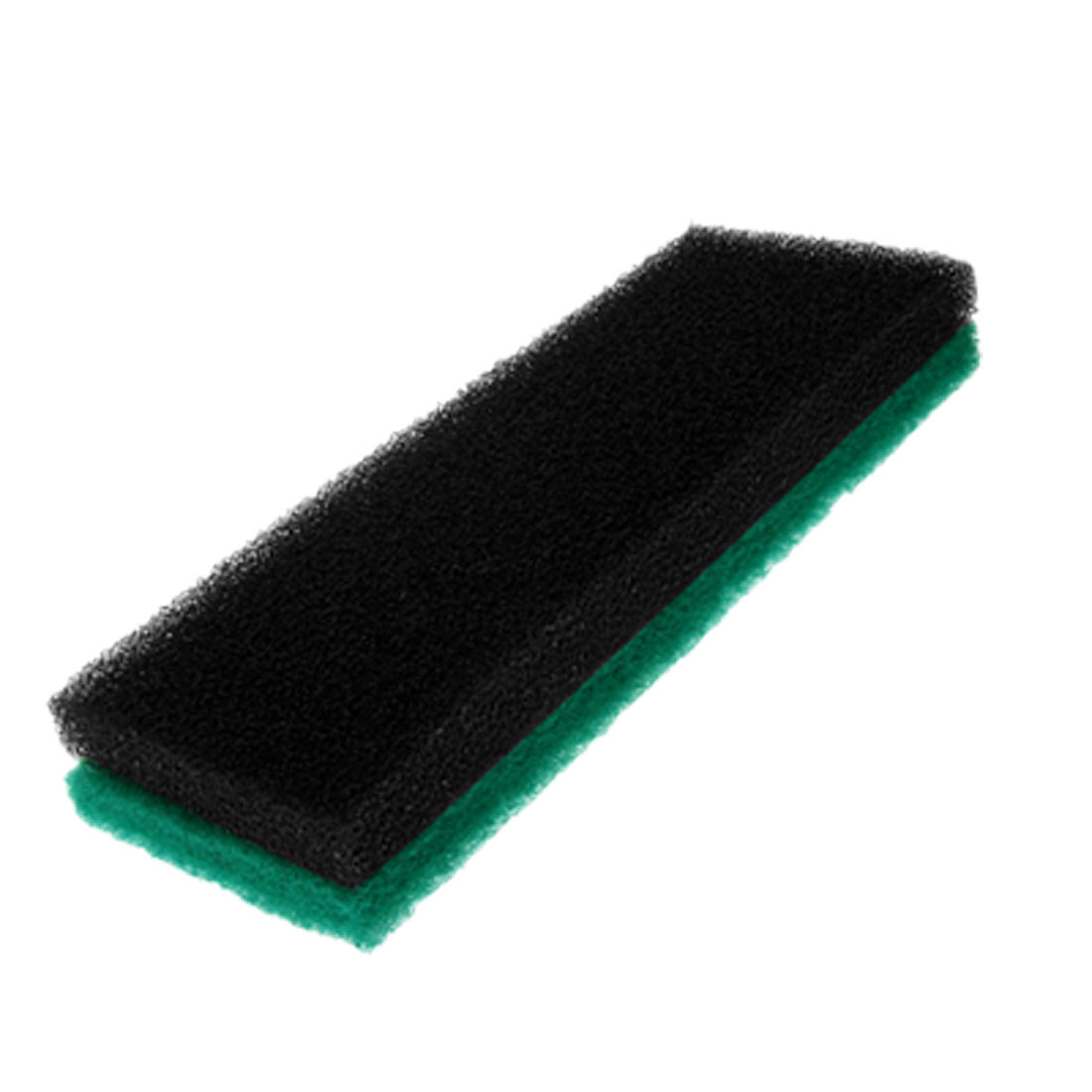 2 Pcs Black Green Retangle Aquarium Sponge Fish Tank Filter