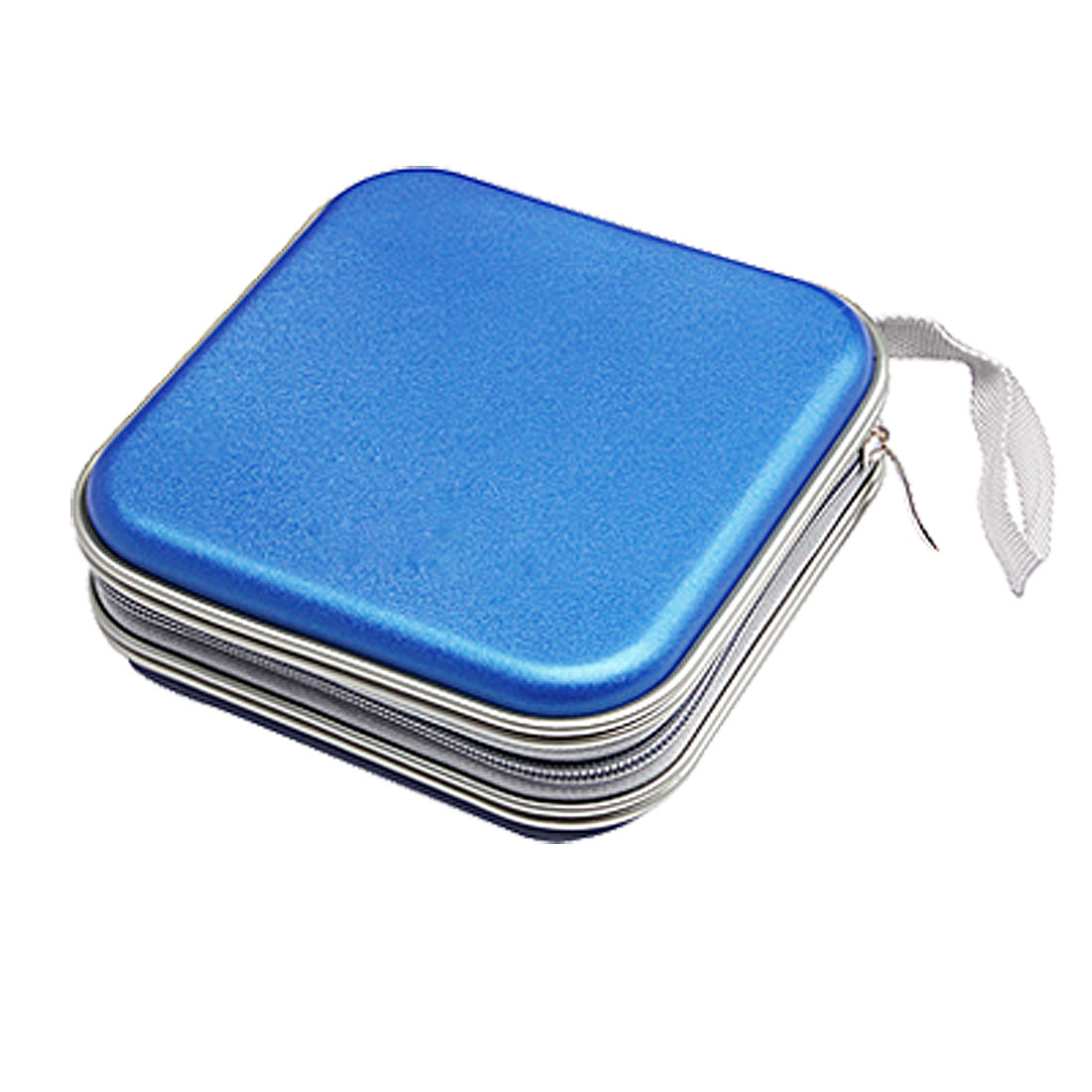 CD VCD DVD Organizer Carrying Square Case Storage Holder Blue