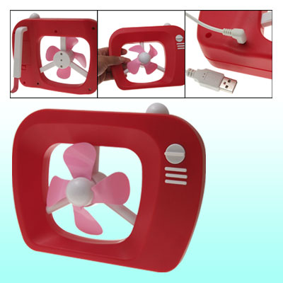 Red Plastic Cooling Fan USB Laptop Desktop Cooler Fan