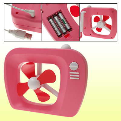 Laptop Mini Pink USB Electric TV Fan Cooling Cooler