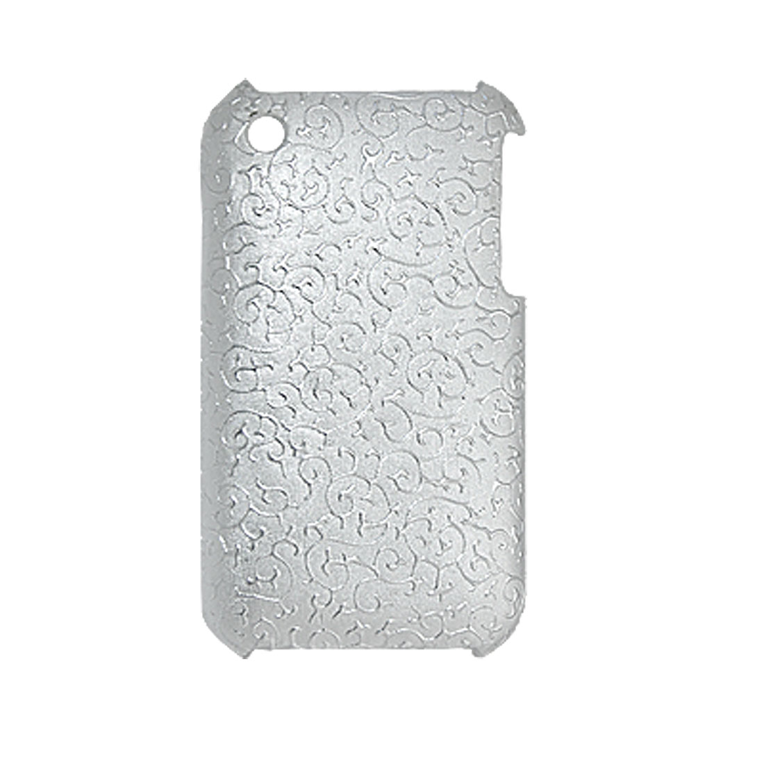 Silver Tone Plastic Phone Shell Back Case for iphone 3G