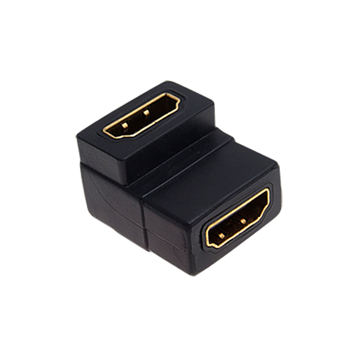 Angle 90 Degree HDMI Female to Female Adapter Connector