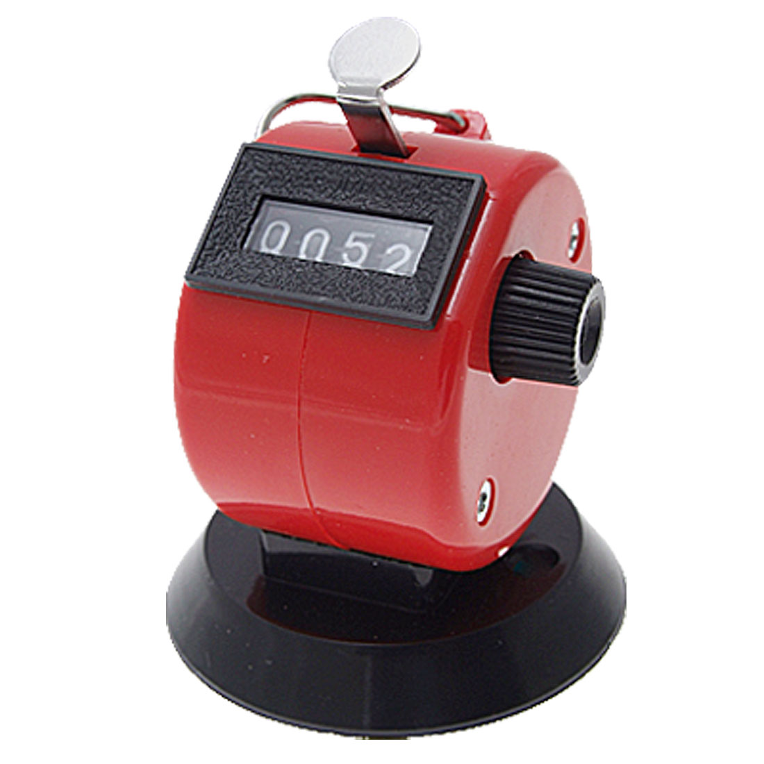 Red Plastic Hand Tally 4 Digit Number Clicker Counter