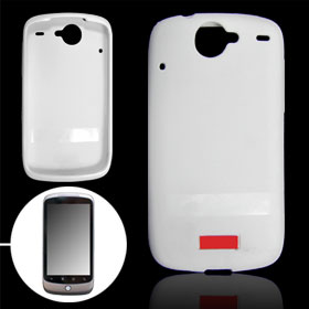 White Soft Plastic Case Cover for HTC Google Nexus One