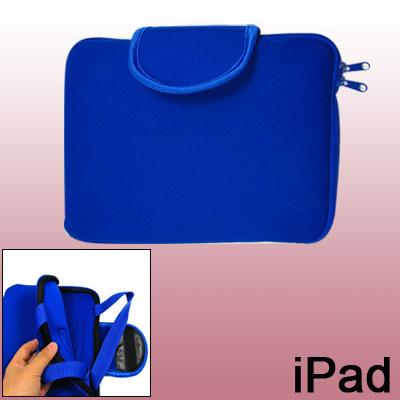 Blue Neoprene Zipper Sleeve Bag Handbag for Notebook Laptop