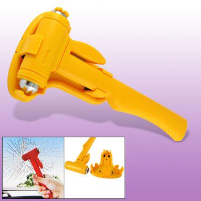 Car Yellow Emergency Cut Seatbelt Glass Break Hammer