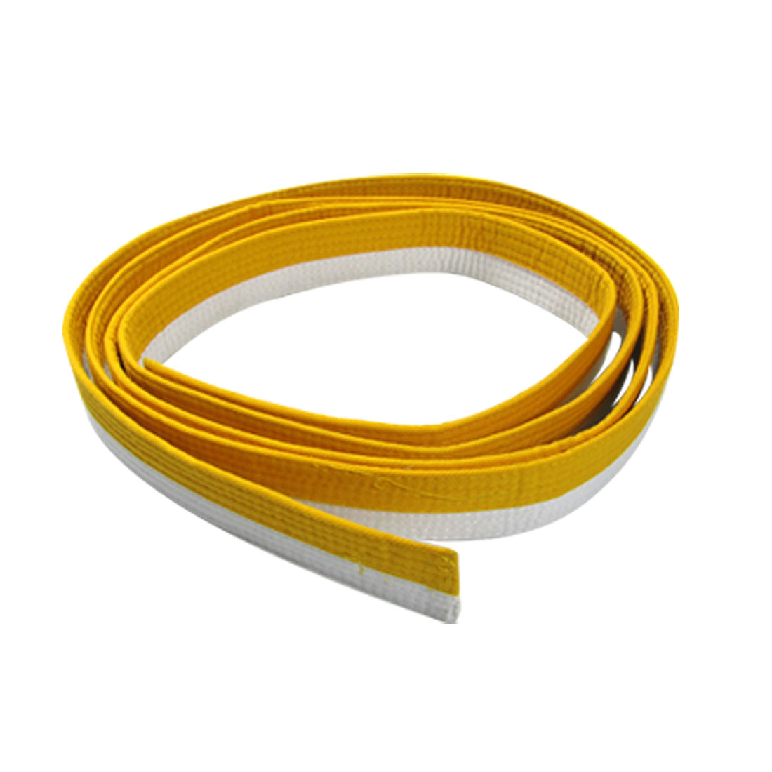Yellow White Long Flexible Karate TaeKwonDo Judo Belt
