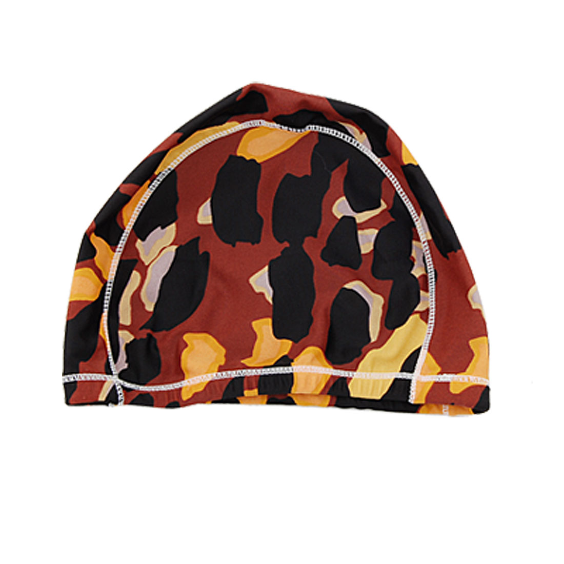 Camouflage Pattern Stretch Polyester Hat Swim Cap for Lady