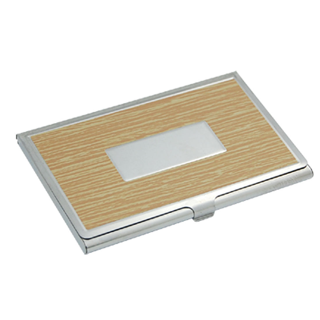 Silver Tone Credit Business Name Card Metal Case Holder New