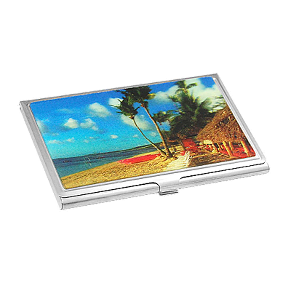 Business Credit Name Card 3D Landscape Print Steel Case