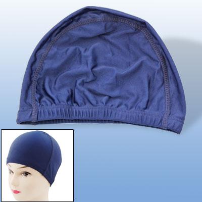 Adult Swim Hat Dark Blue Stretch Polyester Swimming Cap