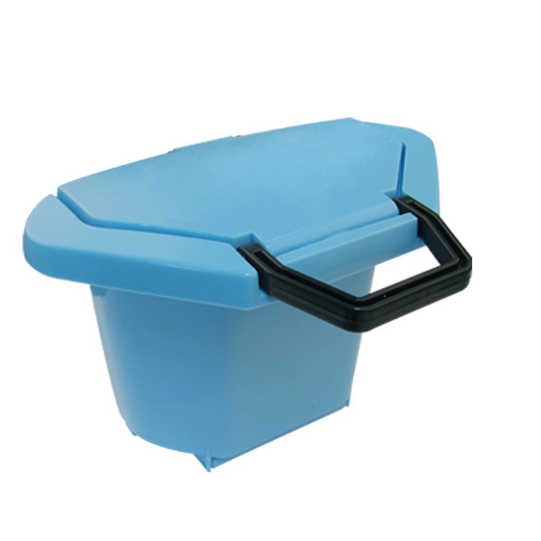 Blue Plastic Trash Can Waste Basket Litter Bin w Suction Cup
