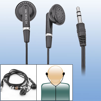 3.5mm Black Earphones Headphones Speacially for Mp3 MP4