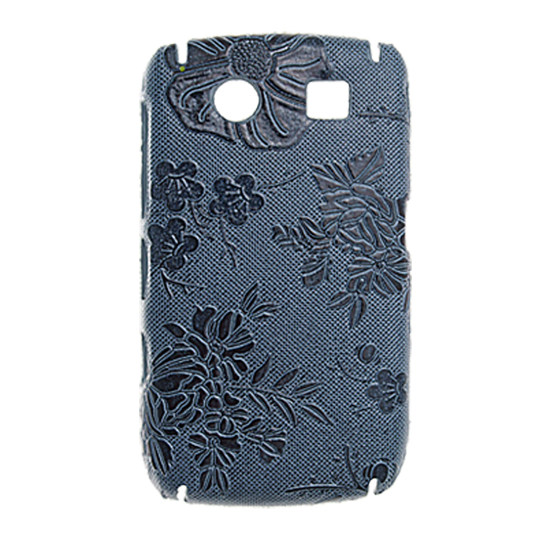 Floral Back Case Plastic Antislip Cover for Blackberry 8900
