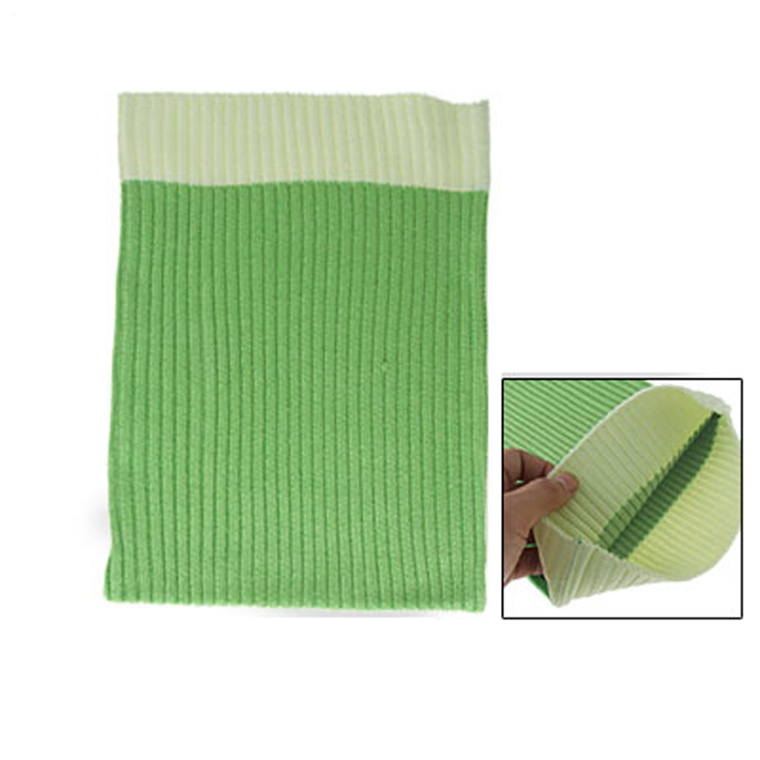 Green Yellow Fabric Elastic Braid Bag for Notebook Laptop