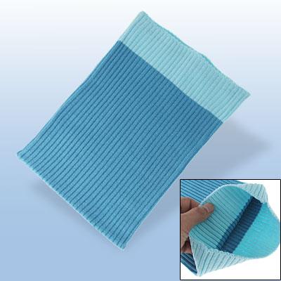 Cyanine Blue Fabric Elastic Braid Bag for Notebook Laptop