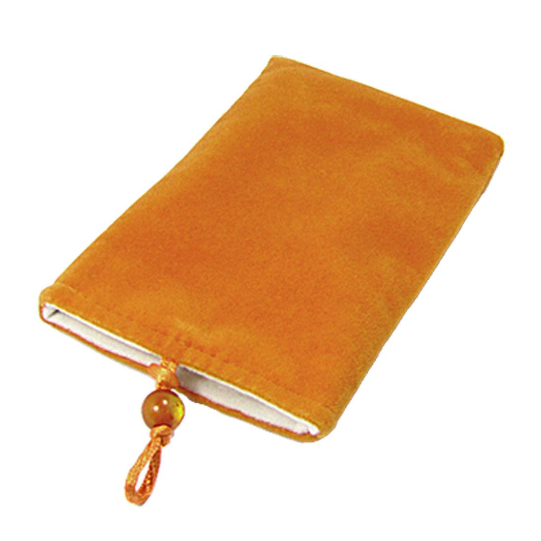 Camera MP3 MP4 Soft Plush Top Entry Design Pouch Orange