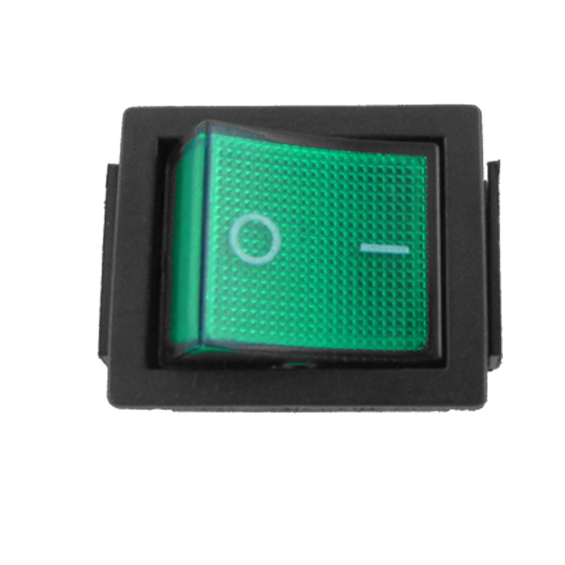 AC 250V 15A Green Light Illuminated 6 Pin DPDT ON/ON Snap in Boat Rocker Switch