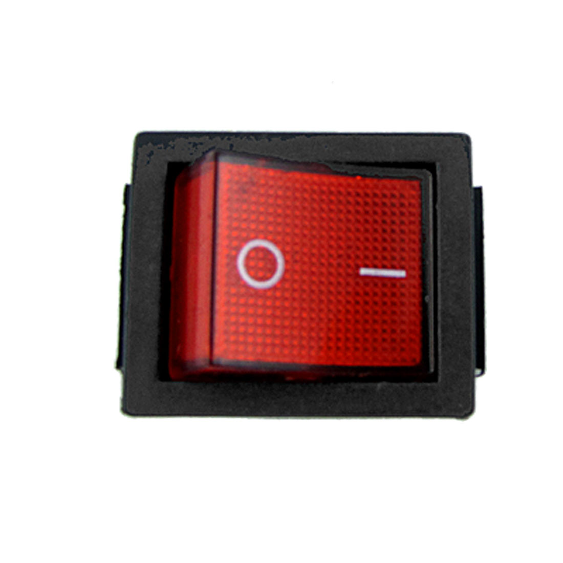 AC 250V 15A Red Light Illuminated 6 Pin DPDT ON/ON Snap In Boat Rocker Switch