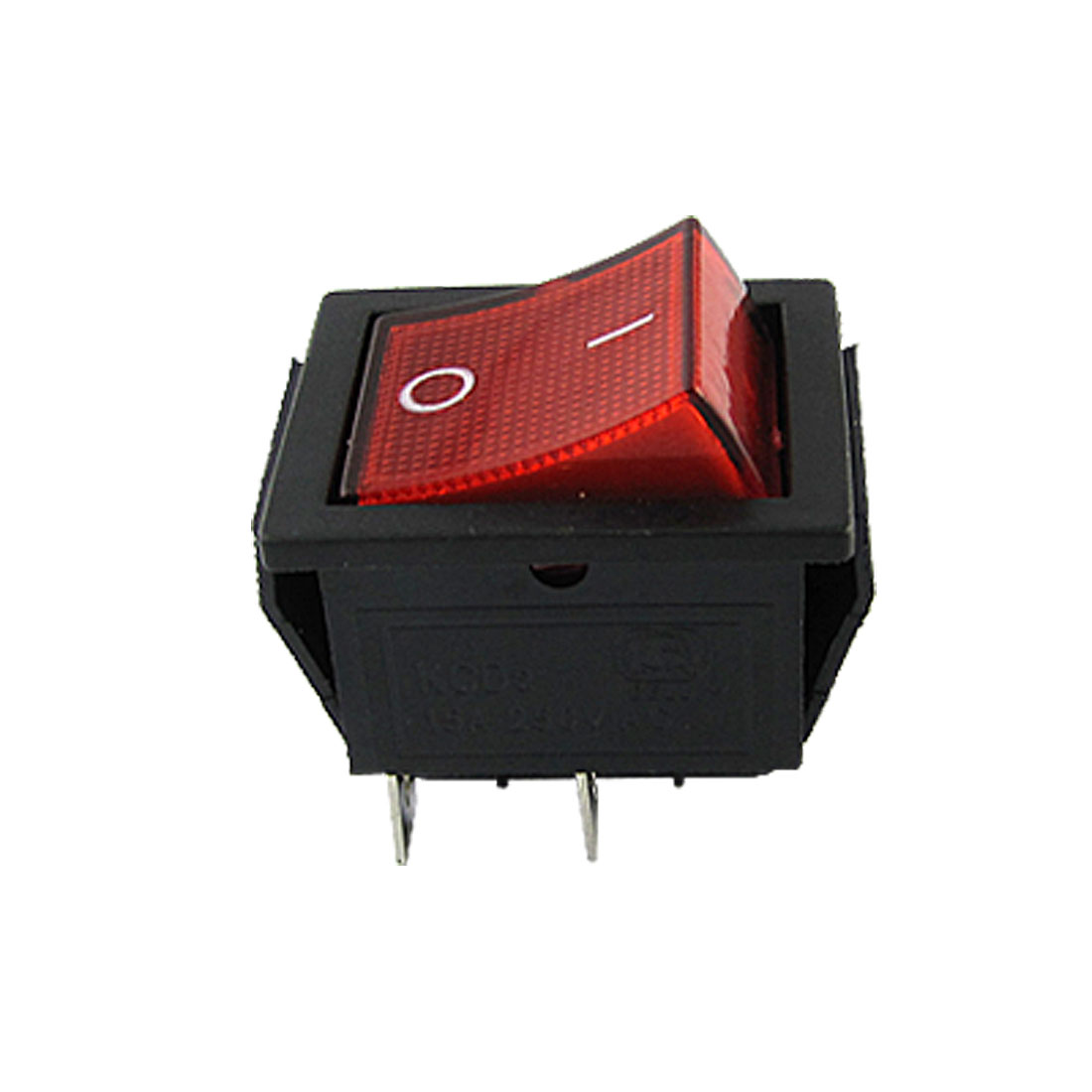 Red Light Illuminated 4 Pin DPST ON/OFF Snap in Boat Rocker Switch AC 5A 220V