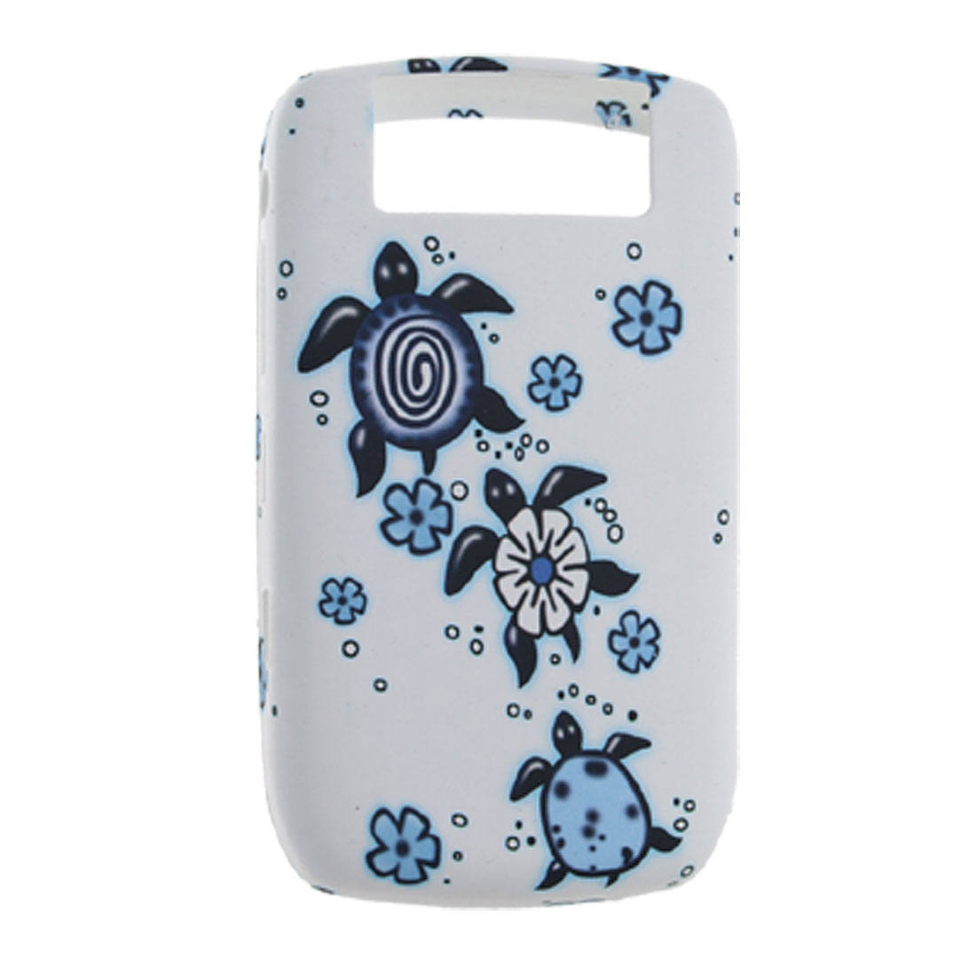 Tortoise Style White Soft Plastic Back Cover for BlackBerry 8900