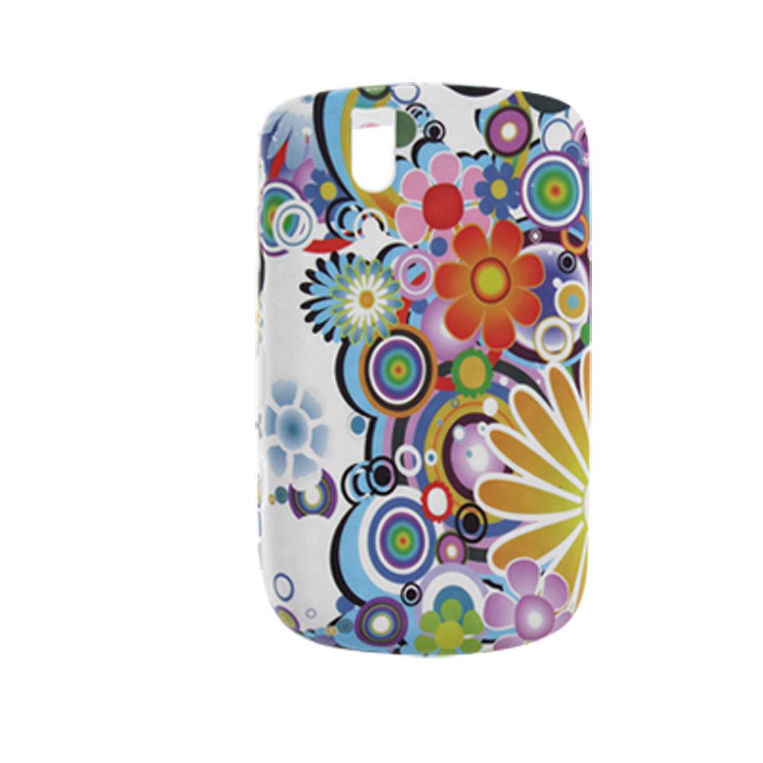 Flower Design Soft Plastic Case Cover for BlackBerry 9630