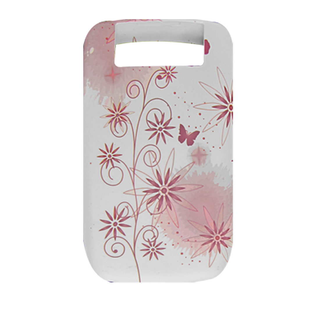 Dandelion Butterfly Pattern Soft Plastic White Case for BlackBerry 8900