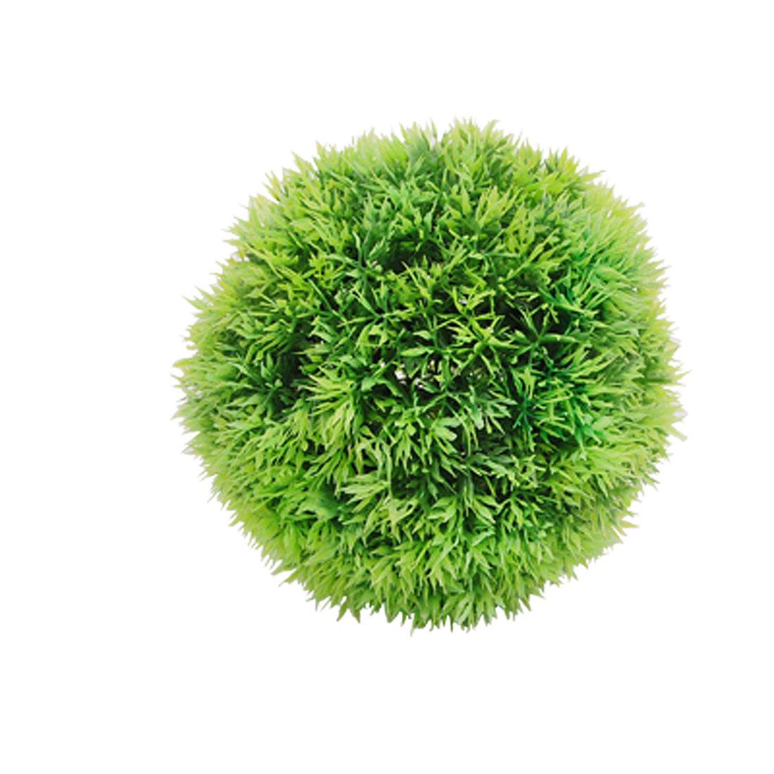 Aquarium Plastic Plants Round Shaped Ornament with Base
