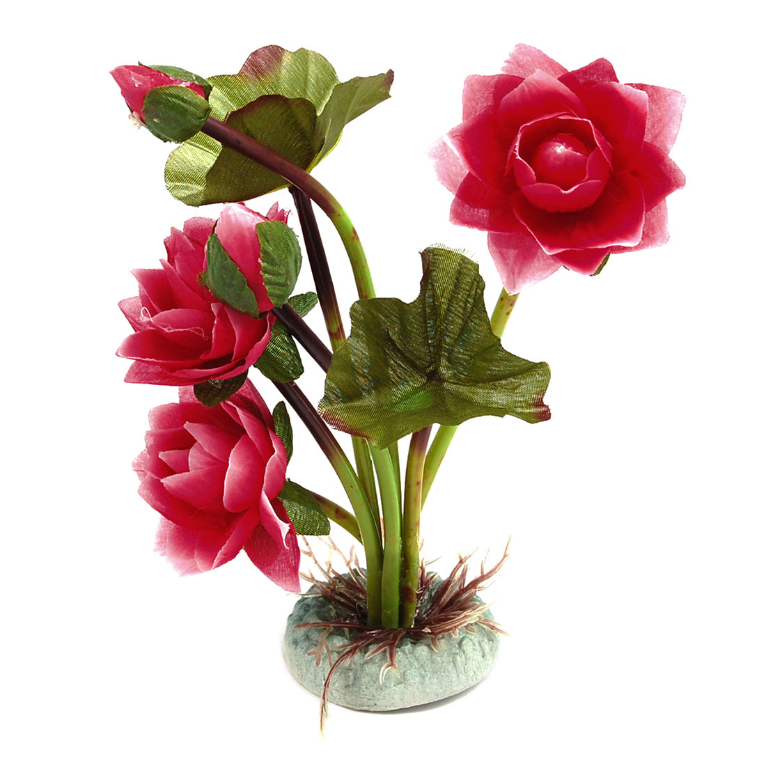 Hot Pink Lotus Decor Underwater Ornament for Fish Tank