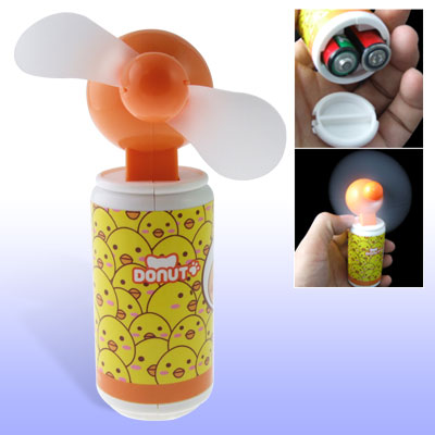 Home Desk Electric Orange Mini 2 White Foam Fan