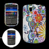 Flower Design Soft Plastic Case Cover for BlackBerry 9630