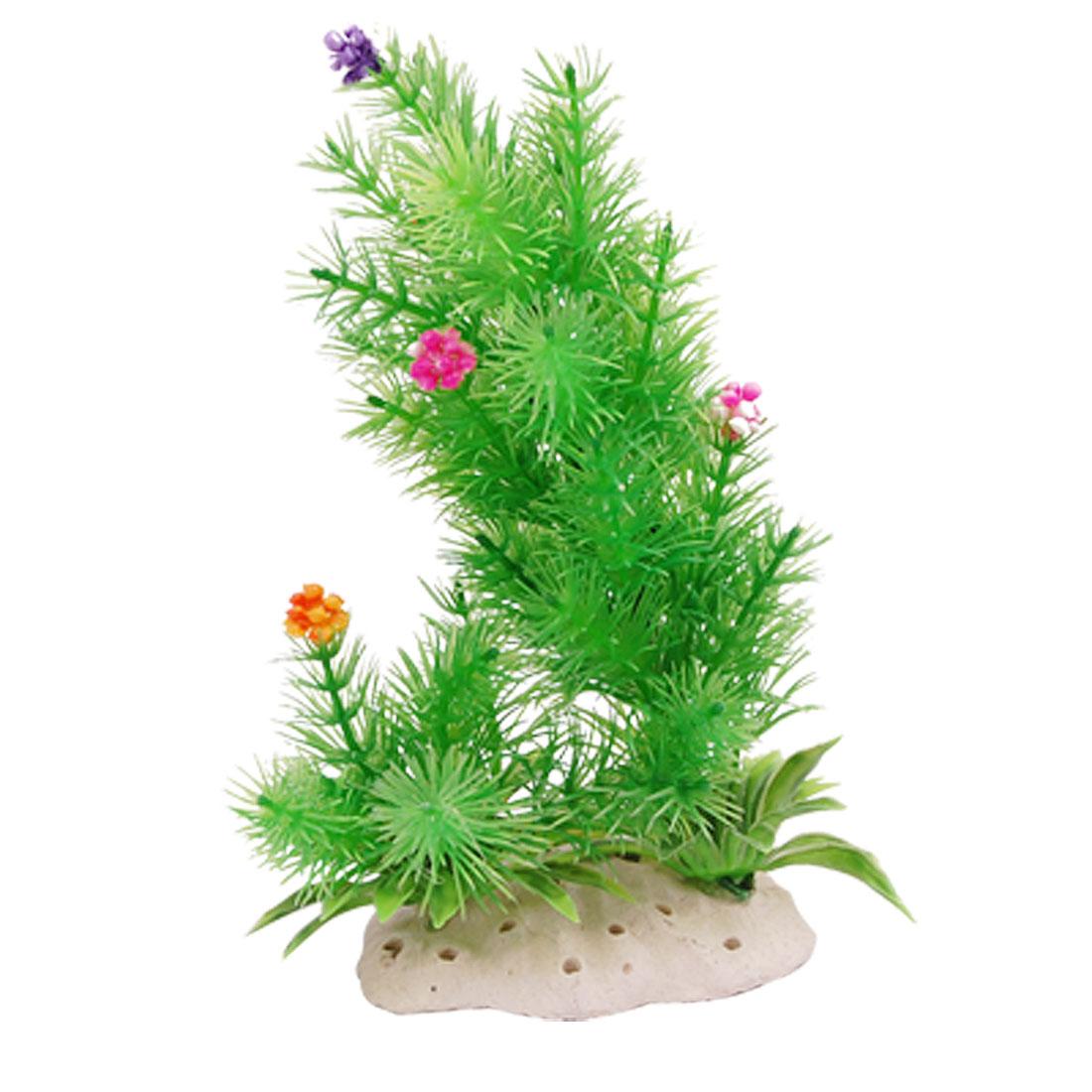 Green Underwater Plastic Plants Aquarium Tank Ornament