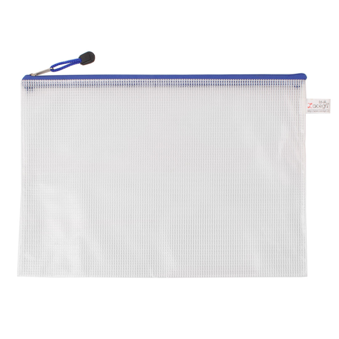 For A4 Paper Inner Netty Design Clear White Files Bag