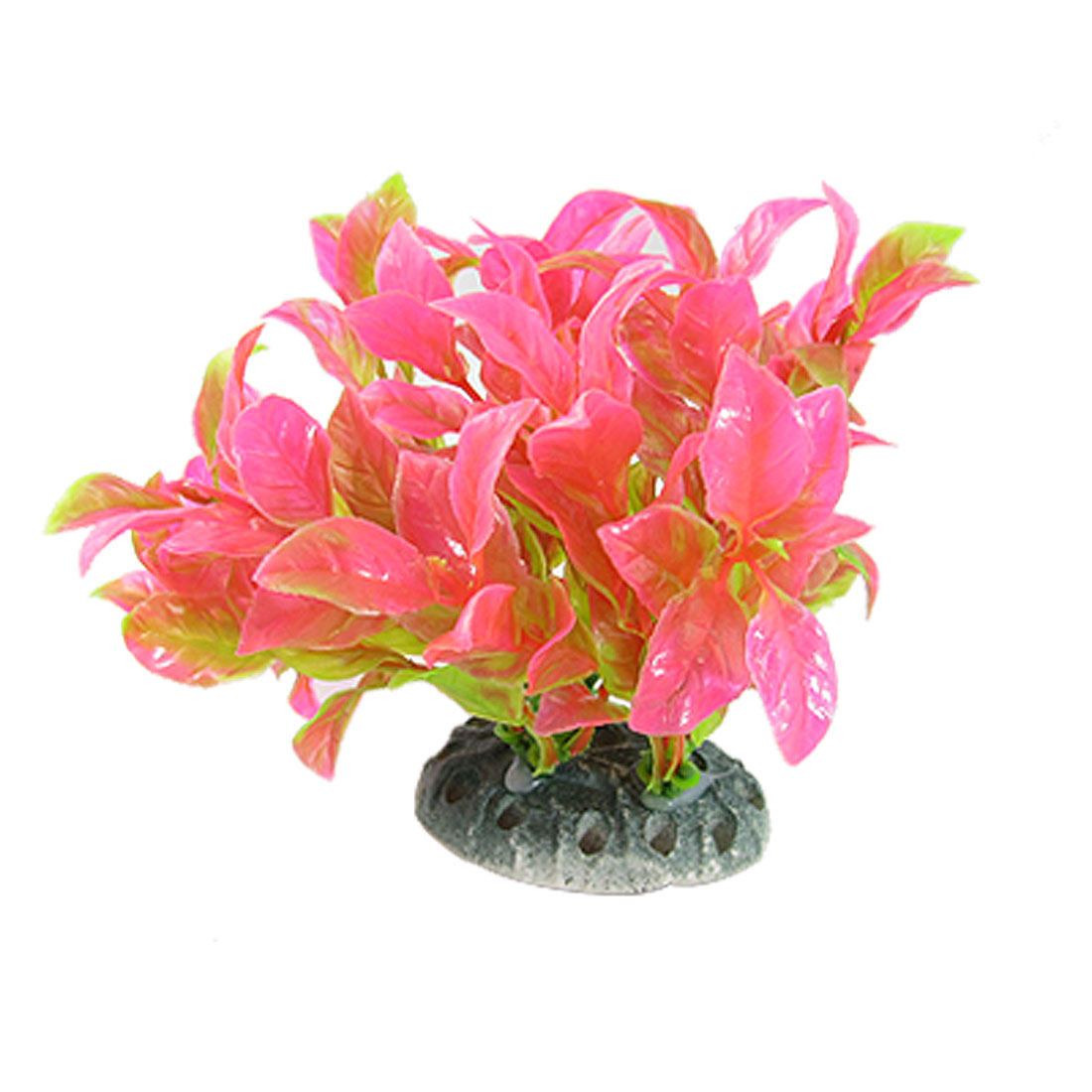 Hot Pink Green Plastic Underwater Float Grass Aquarium Decor Ornament
