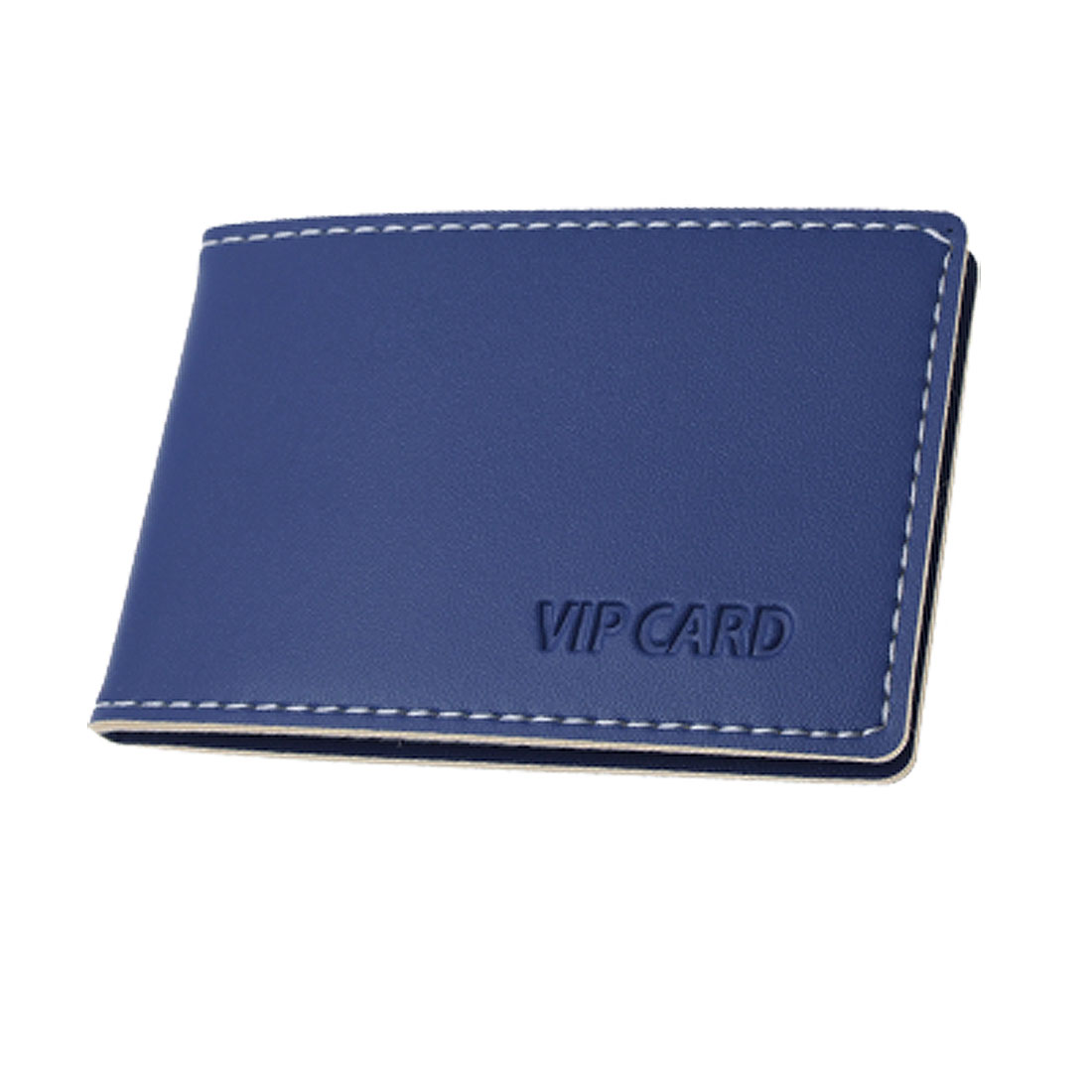 Ladies Blue Faux Leather Credit Cards Organizer Holder
