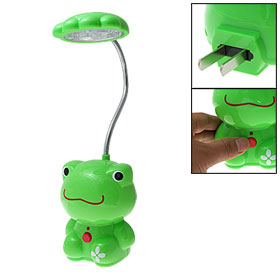 Green Frog 18 LED Rechargeable Flexible Neck Desk Reading Lamp White Light