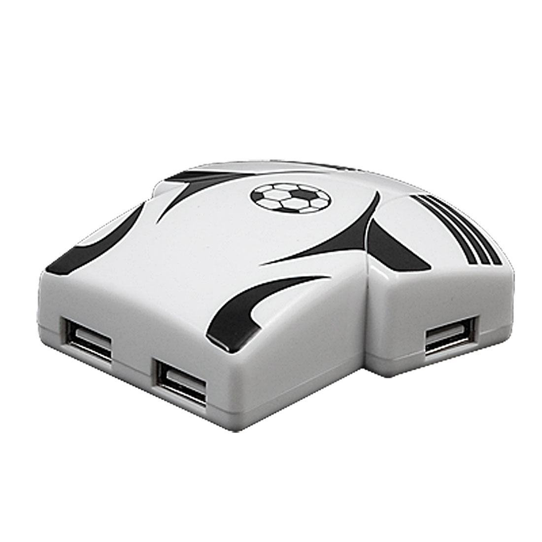 White Football Shirt Design 4 Port USB 2.0 HUB for PC Laptop